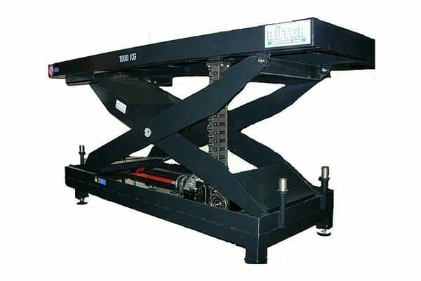 Illustration of mechanically driven lifting tables