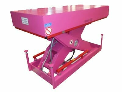 Photo Plant lifting table in pink