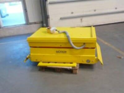 Figuur Hydraulische hub draaitafel in geel