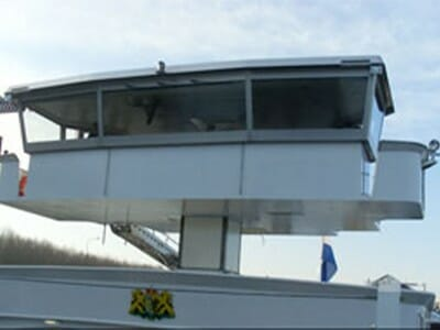 Foto Hubschacht-Steuerhausheber in weiß
