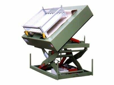 Abbildung Hydraulik-Hub-Kipptisch gekippt