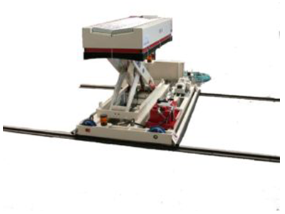 Abbildung Papier und Kunststoff Coiltransporter auf Schienen