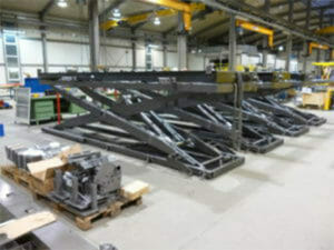 Lifting tables for hot area