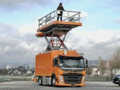 Hubarbeitsbühne für Fahrzeuge