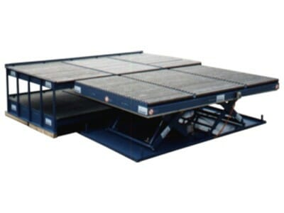 Photo Lifting table with conveyor technology large
