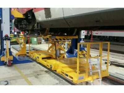 Mobile RSW with lifting buck support and coupled work platforms