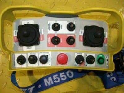 Detail radio afstandsbediening voor master en slave operatie