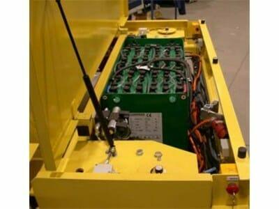 Zware laser transporter batterij