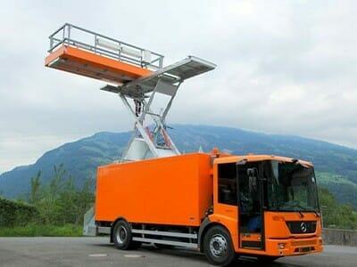 Hefwerkplatforms voor voertuigen