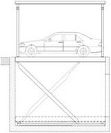 variante 3 auto vom erdgeschoss in keller