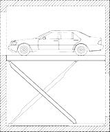 variante 4 auto in schacht mehrere ebenen