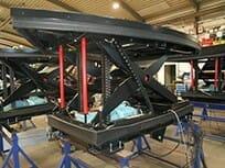 Abbildung mechanisch angetriebener Hubtisch ausgefahren