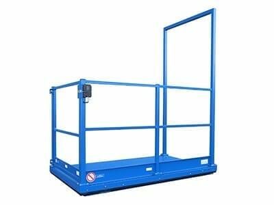 De lift van de goederen in blauw