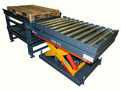 Photo Lifting table with conveyor technology