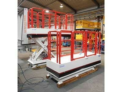stationary lifting work platforms