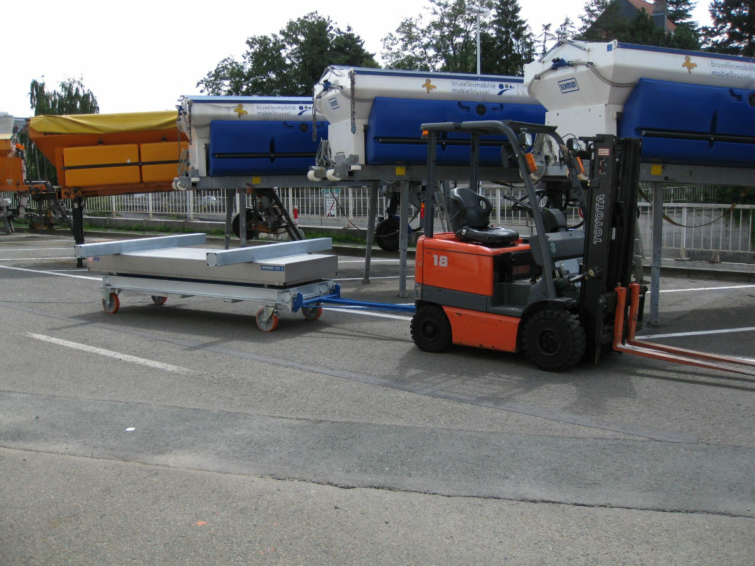 Abbildung Scherenhubwagen angekoppelt