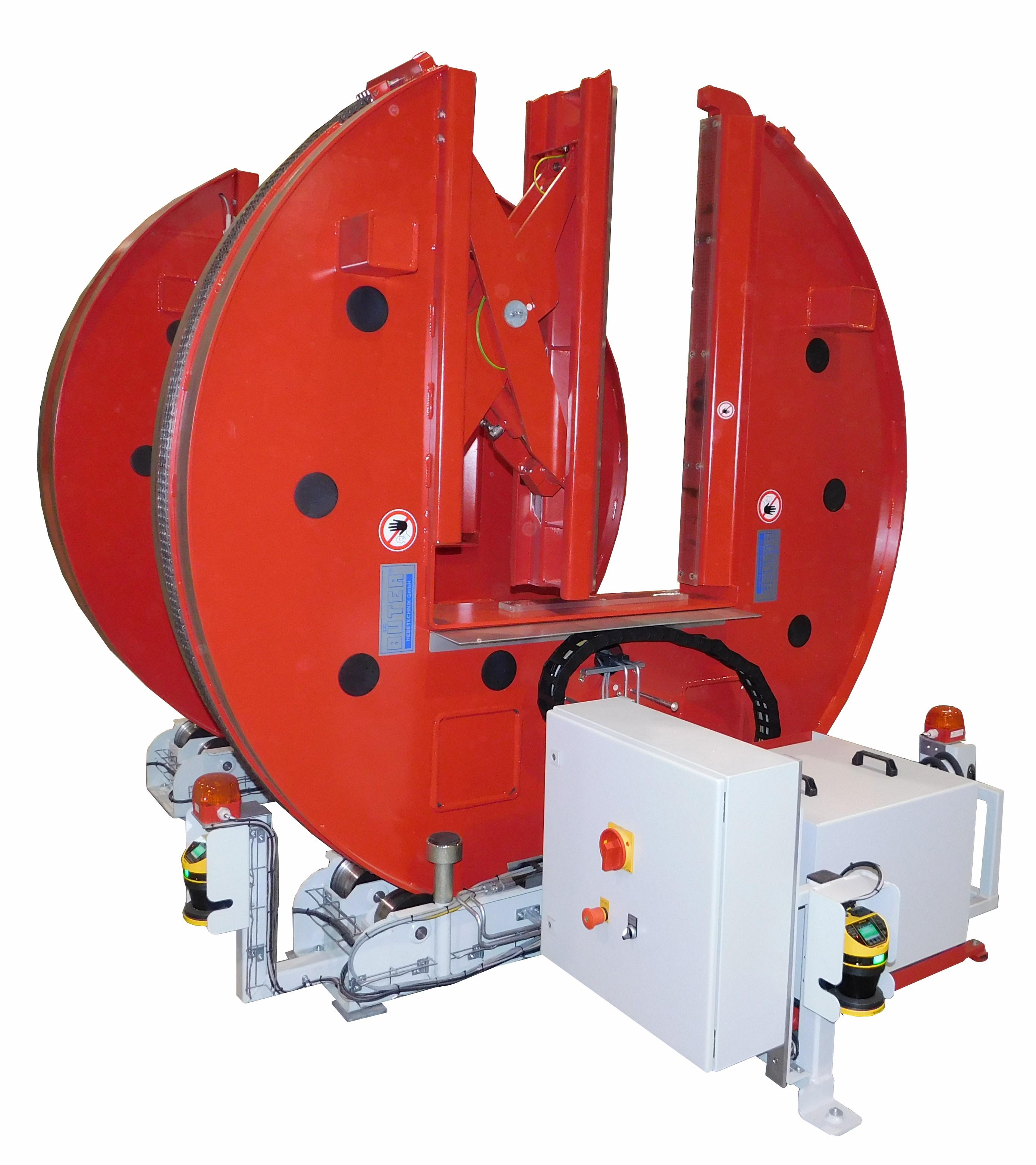 Illustratie van hydraulische wisselaar in rood