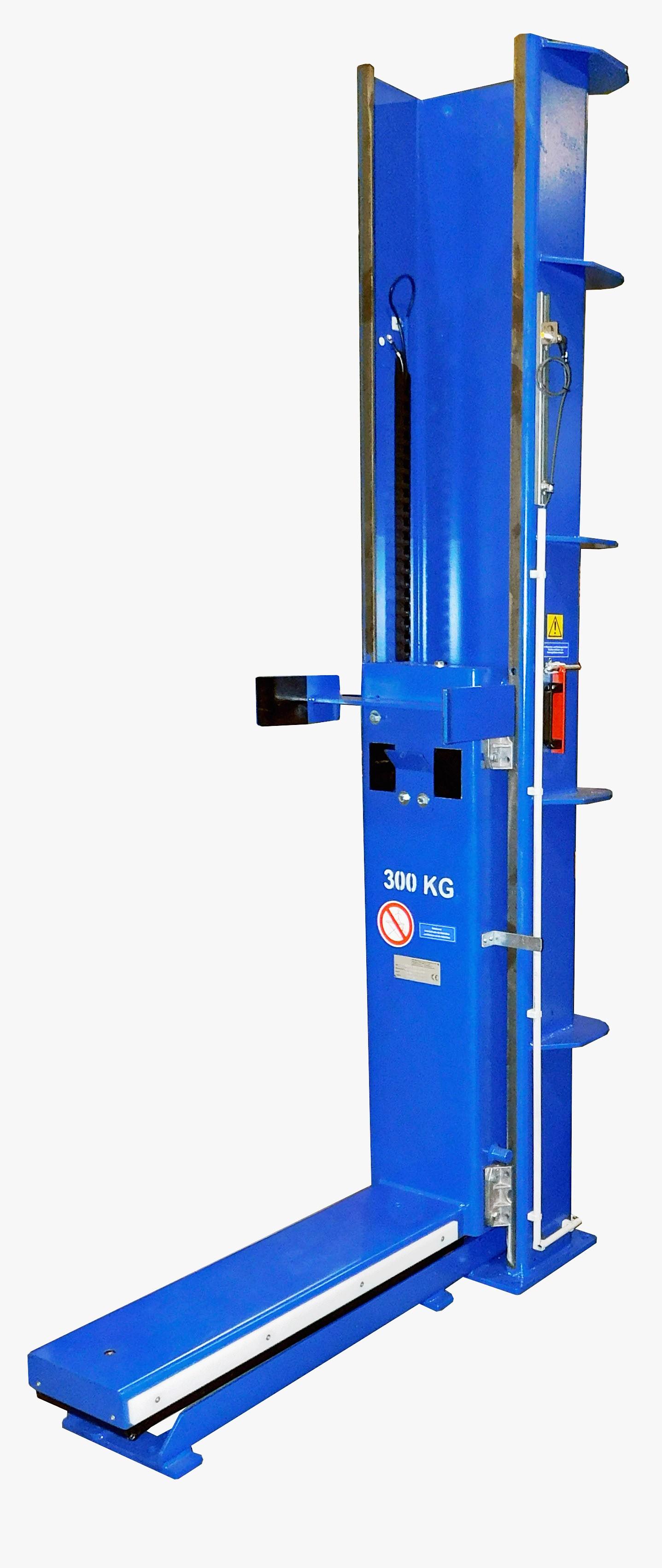 Figuur verticale transportband in blauw