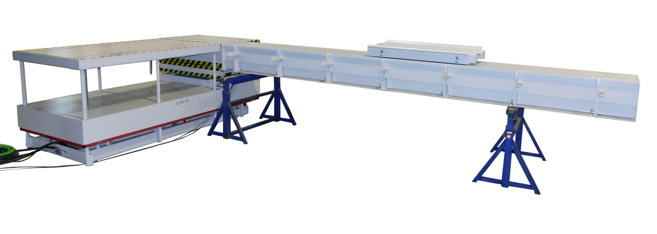 Abbildung Papier und Kunststoff Coiltransporter lang