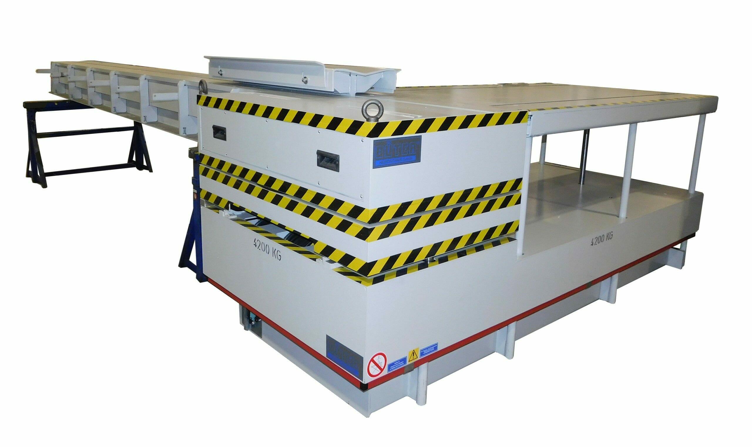 Abbildung Papier und Kunststoff Coiltransporter hochgefahren