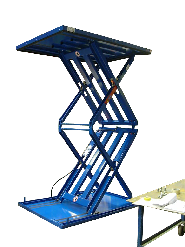 Figure Flat lifting table extended