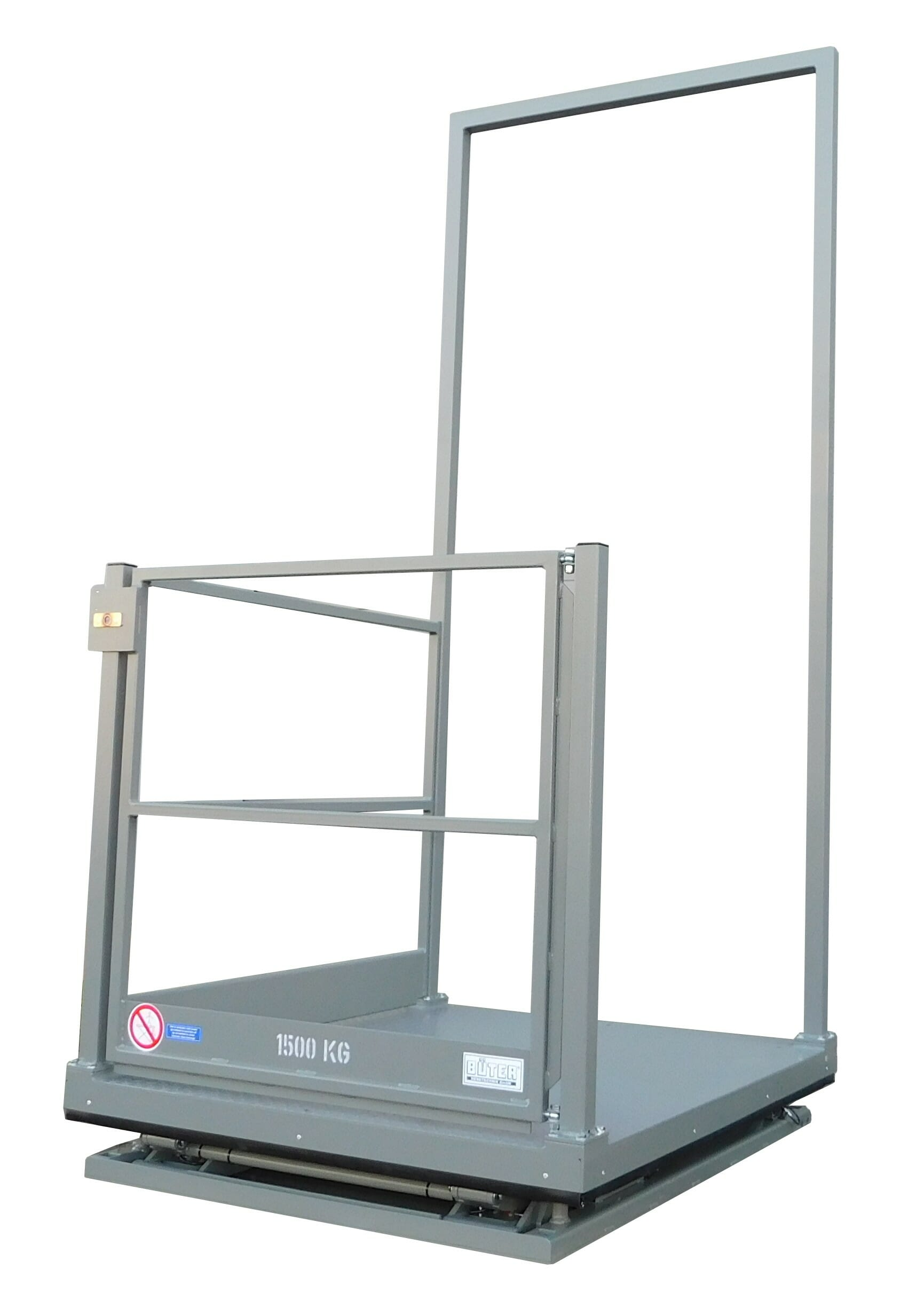 Figure Flat lifting table in grey retracted