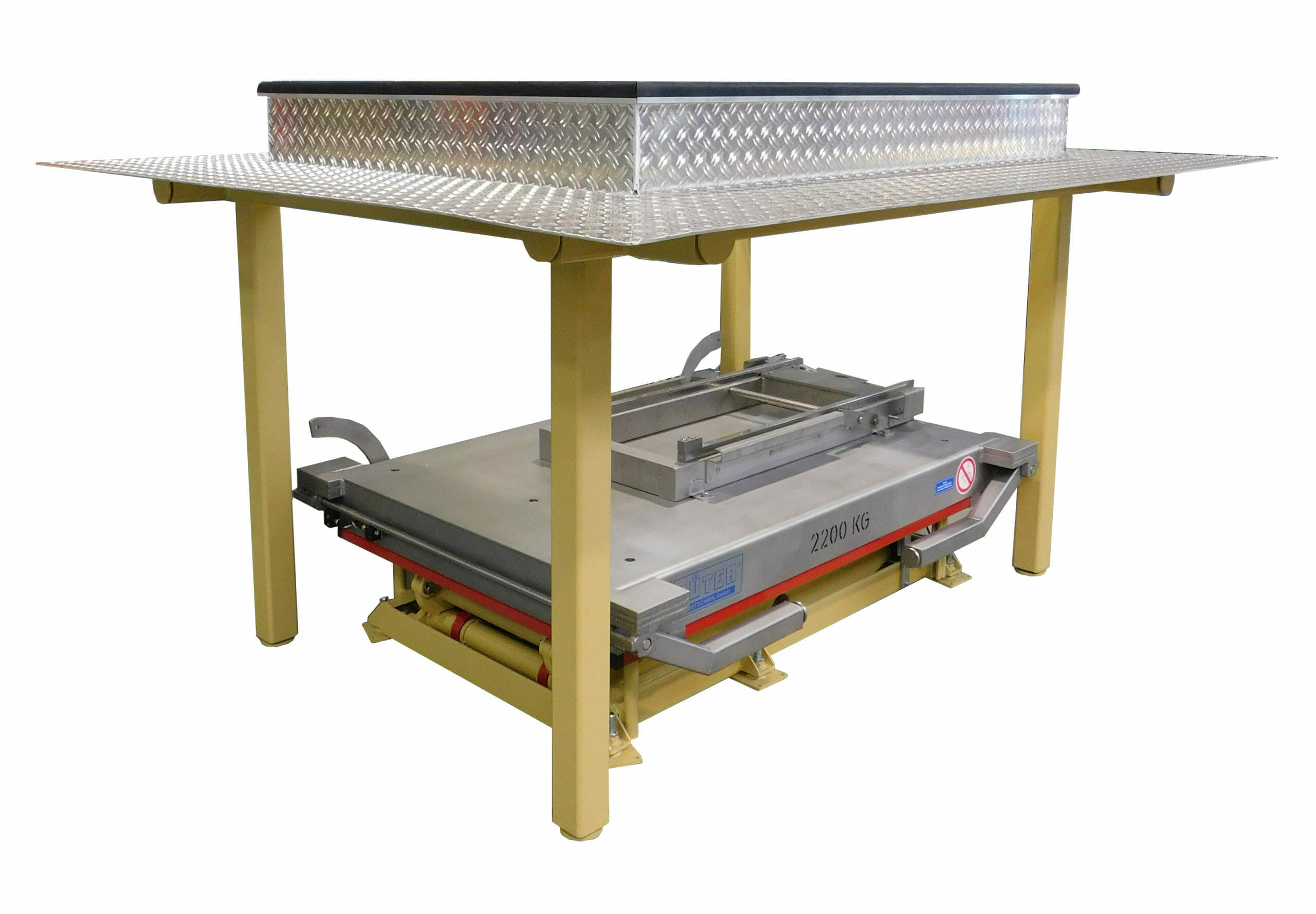 Photo Lifting table with conveyor technology retracted
