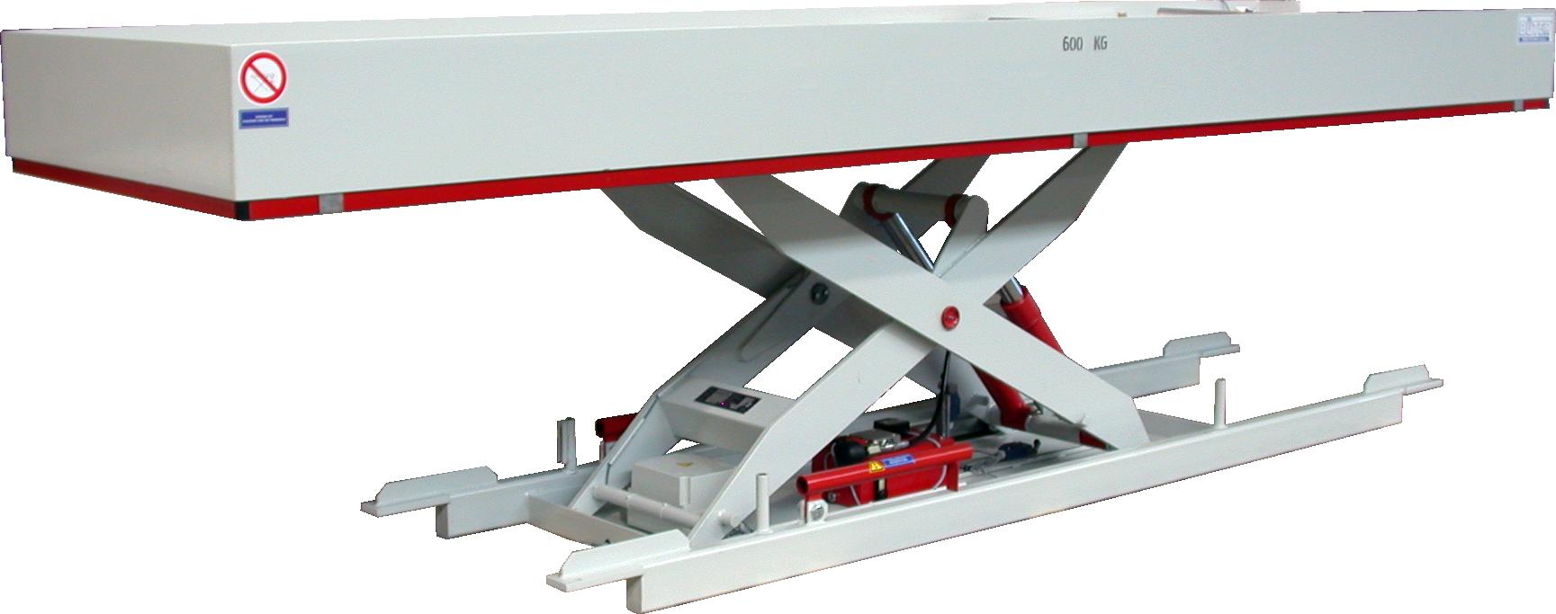 Figure Stationary work platform raised