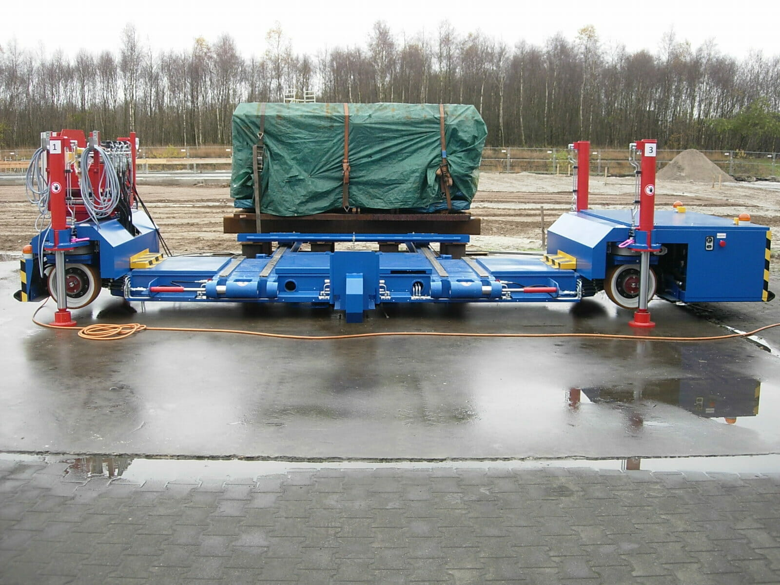 Heavy-duty transporters special vehicles in use